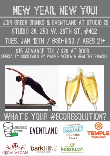 New Year Kick-Off Green Drinks NYC with Studio 26!